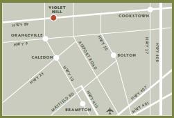 Violet Hill map